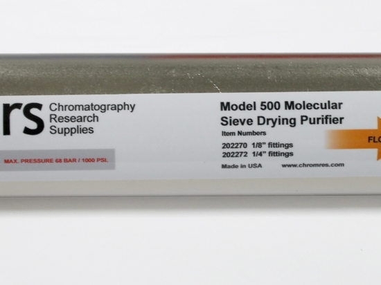Model 500 Molecular Sieve Drying Purifier with Brass Compression Fittings